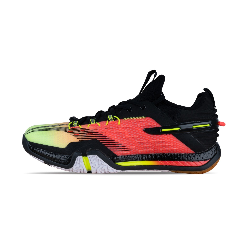 LI-NING Saga 2020 Black / Flashing Bright Green Professional Non Marking Badminton Shoes- AYAQ009-2