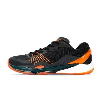 LI-NING Monkey King Standard Black/Flashing Orange Professional Non Marking Badminton Shoes- AYAP013-1S