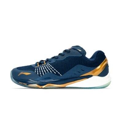LI-NING Monkey King Deep Blue/Pale Gold Professional Non Marking Badminton Shoes- AYAP013-5S