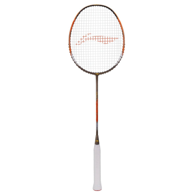 LI-NING Ignite 7 Olive Grey/Orange Badminton Racket