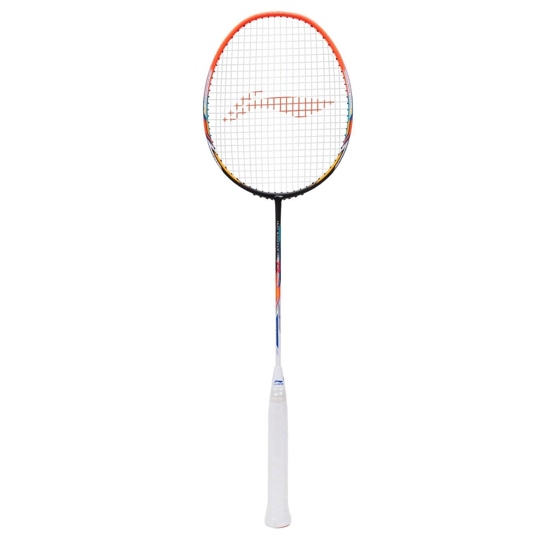 LI-NING WINDSTORM 72 -BLACK/ORANGE/WHITE Badminton Racquet