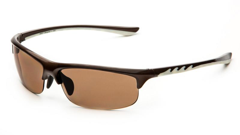 """Очки для активного отдыха """"солнце"""" AS021 шоколадно-белый"""