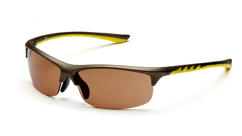 """Очки для активного отдыха """"солнце"""" AS021 серо-желтый"""
