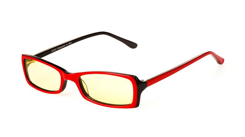 Очки для компьютера AF047 красно-черный