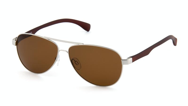 Солнцезащитные поляризационные очки POLARMASTER, PL01 L1 серебристо-коричневый