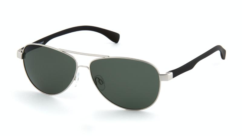 Солнцезащитные поляризационные очки POLARMASTER, PL01 L3 серебристо-черный
