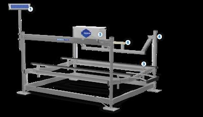 8000lb Shorestation Vertical Lift Hydraulic w/ Solar
