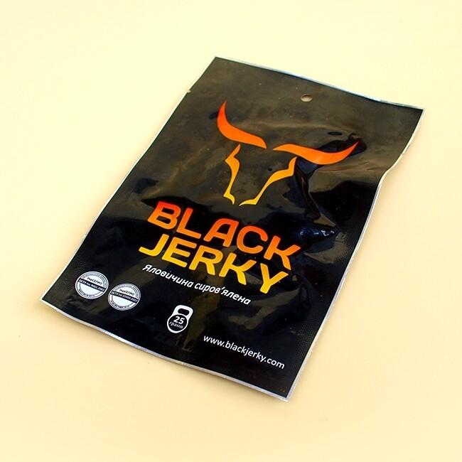 """Снеки """" BLACK JERKY"""" (Яловичі) С/В (0,025 г)"""
