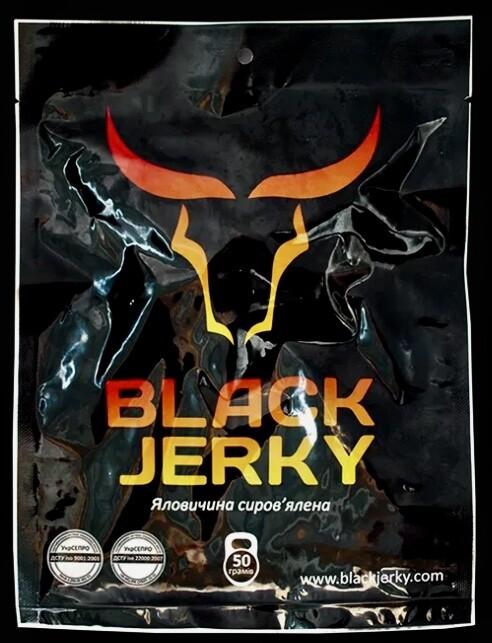 """Снеки """" BLACK JERKY"""" (Яловичі) С/В (0,050 г)"""