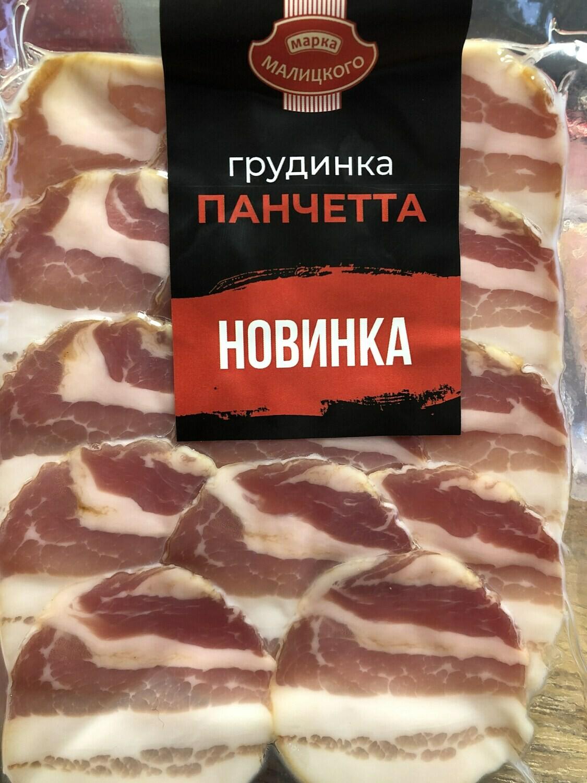 """Грудинка """"Панчетта"""" сиров'ялена в/г нарізка (0,08 г)"""