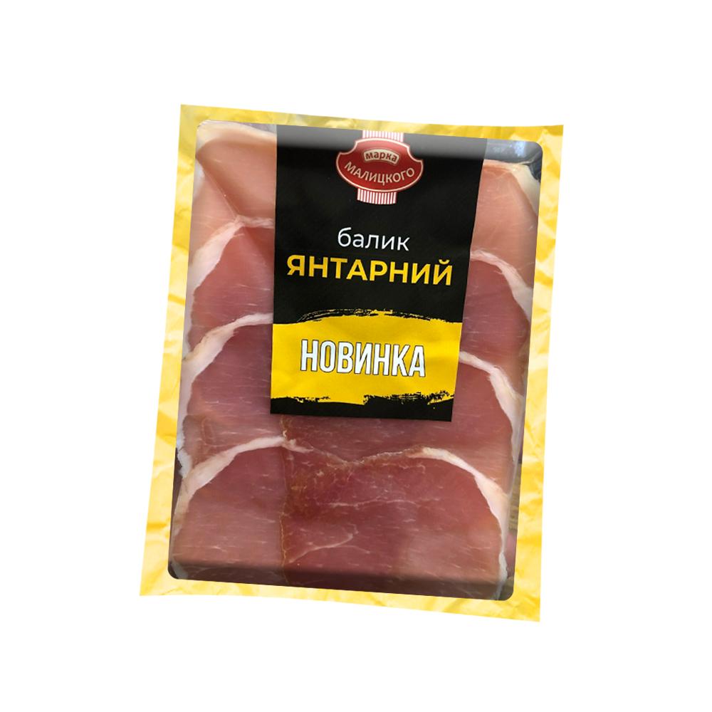 """Балик """"Янтарний"""" сиров'ялений вищого гатунку (нарізка) (0,080 г)"""