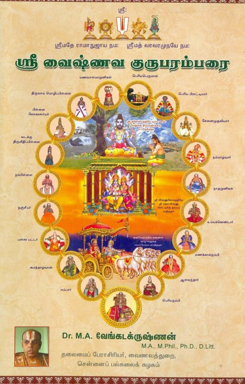 Guruparamparai by M.A. Venkatakrishnan,ஸ்ரீவைஷ்ணவ குருபரம்பரை , ம.அ.வேங்கடகிருஷ்ணன்