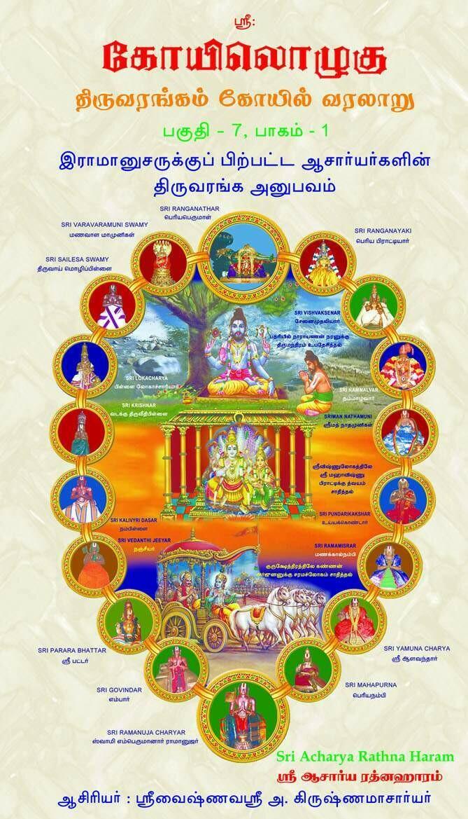 Printed Book - ( KO 7 - Vol 1 ) KO VII , Vol 1 - Sriranga Anubhavam of Acharyas after Sri Ramanuja,  ஸ்ரீராமானுஜருக்குப் பிற்பட்ட ஆசார்யர்களின் திருவரங்க அனுபவம்