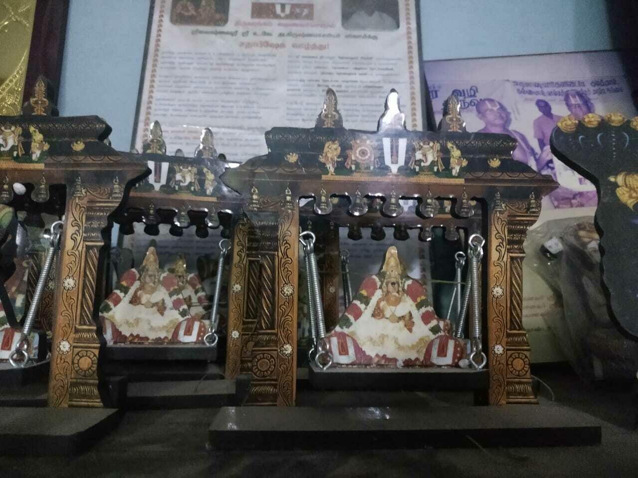 Srirangam Thayar Unjal / Oonjal model ; ஸ்ரீரங்கம் தாயார் ஊஞ்ஜல் கொலுவில் வைக்க / பரிசுப்பொருள்