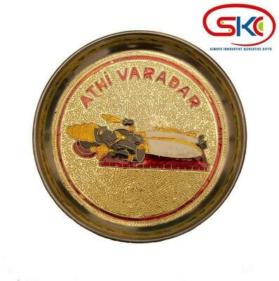 Athi varadhar minakari painted decorative plate