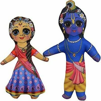 Radha and Krishna cute & cuddly soft toy set