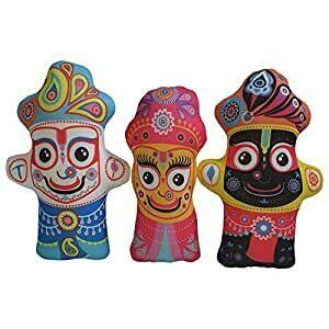 Lord Krishna , Subhadra & Balarama set of 3 Cute & Cuddly Soft Toys