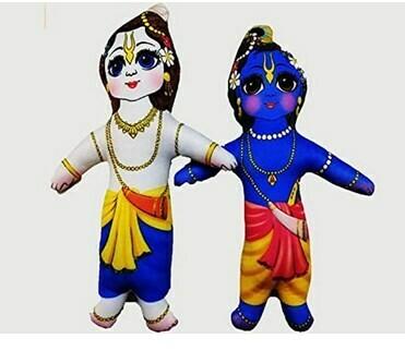 Lord Krishna & Balaram / Balram set of 2 soft & Cuddly toys
