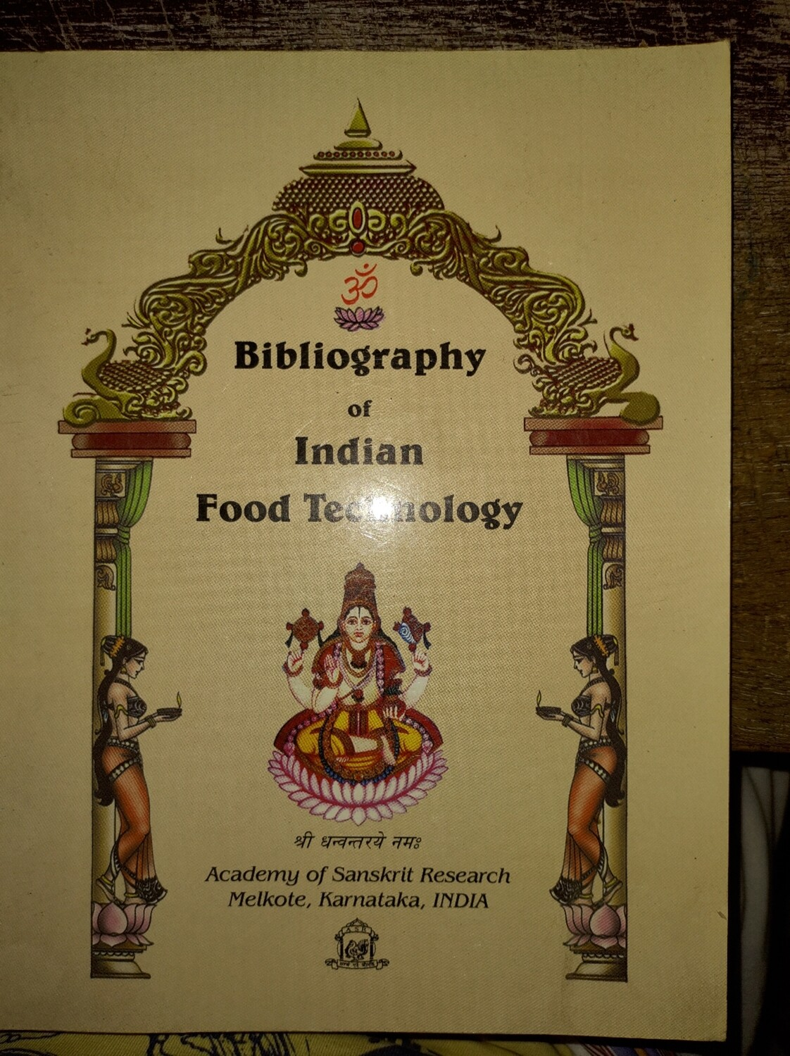 ASR Book - Bibliography of Indian food technology