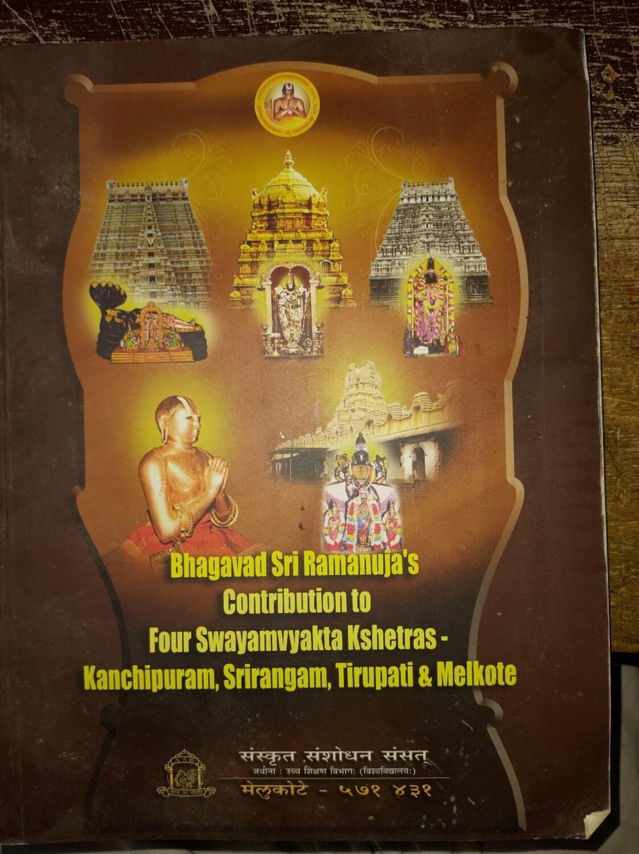 ASR book - Bhagavad Sri Ramanuja contribution to 4 swayamvakta kshetras