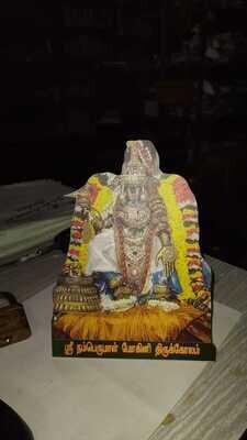 Namperumal Nachiyar Thirukkolam (Mohini Alankaram) photo cut stand / wall mount type 8x6
