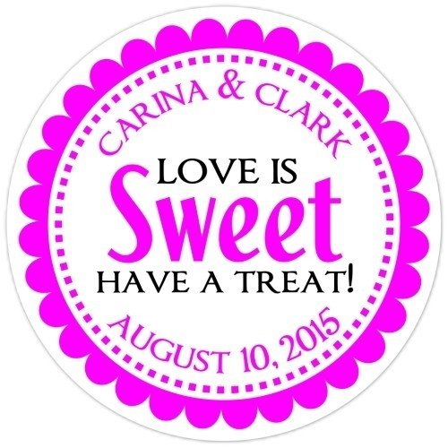 Love is Sweet Pink Stickers