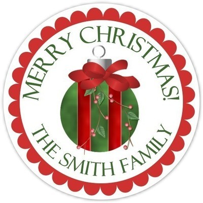 Lovely Christmas Ornament Stickers