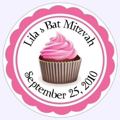 Personalized Cupcake Stickers