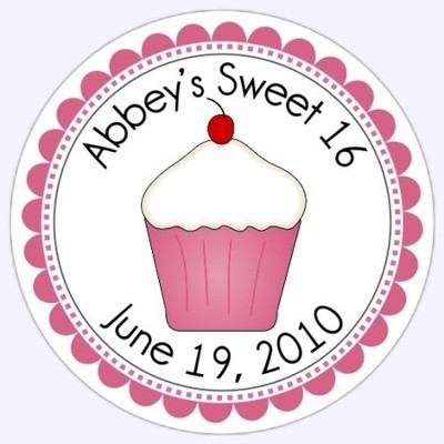Personalized Sweet Cupcake Stickers