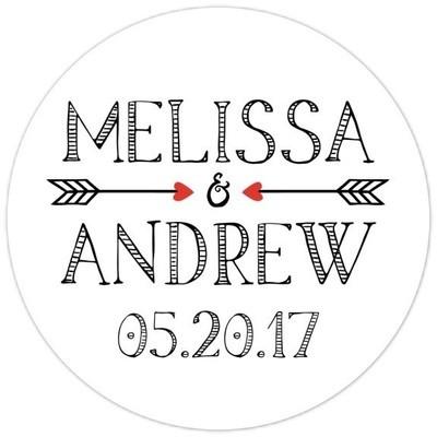 Arrow Bridal Shower or Wedding Stickers