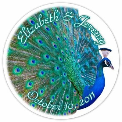 Peacock Wedding Stickers