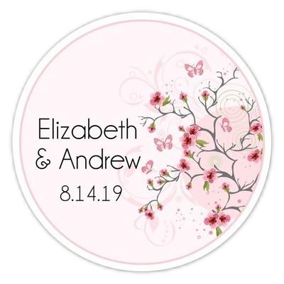 Cherry Blossom Wedding Stickers