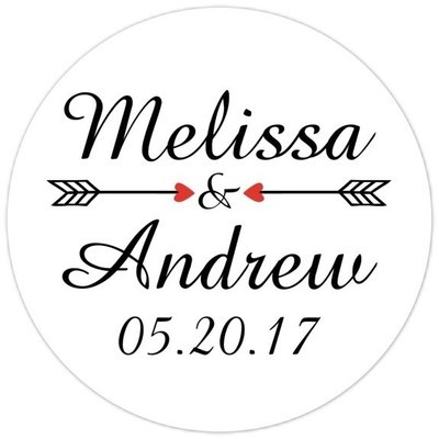 Script and Arrow Bridal Stickers Bridal Shower or Wedding Stickers