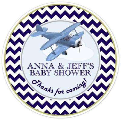 Aviation Baby Shower Stickers
