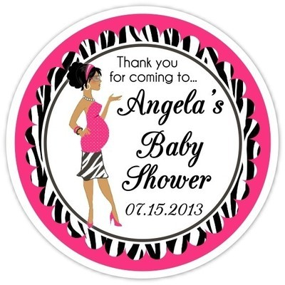 Baby Shower Zebra Diva Stickers