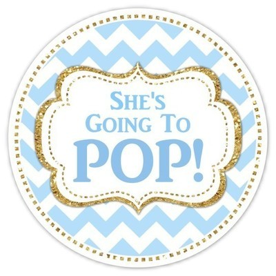 Blue and Gold Going to Pop sticker