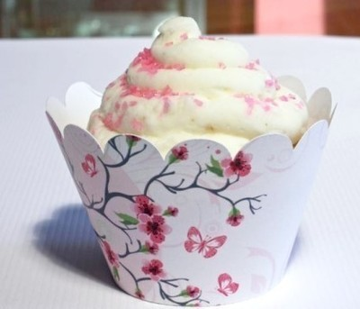 Cherry Blossom Cupcake Wrappers