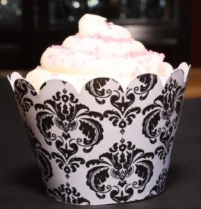Damask Cupcake Wrappers