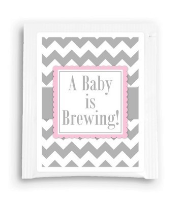Pink A Baby is Brewing Tea Favor