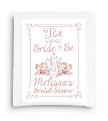 Rose Floral Tea With the Bride to Be Tea Favor