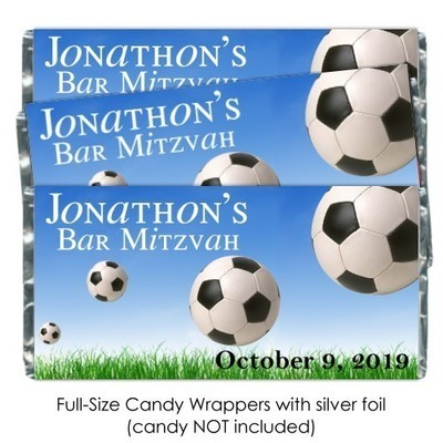 Soccer Candy Bar Wrappers