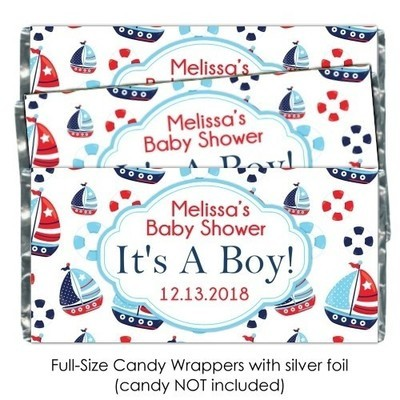 Nautical It's A Boy Baby Shower Candy Wrappers