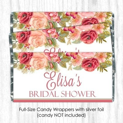 Rose Gold Wedding Candy Wrappers