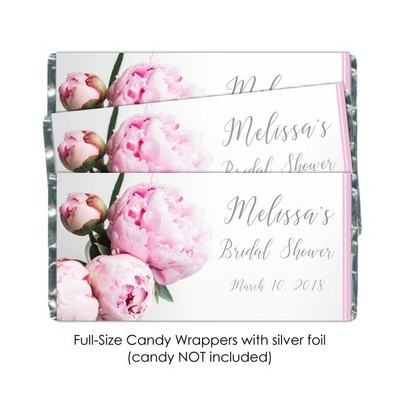 Peonies Candy Wrappers