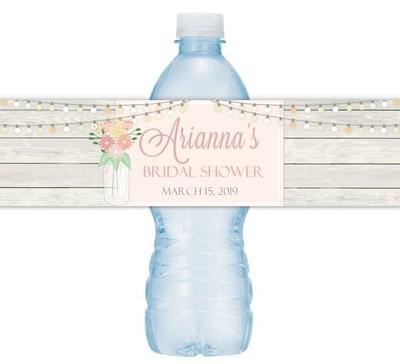 Mason Jar Wedding Water Bottle Labels