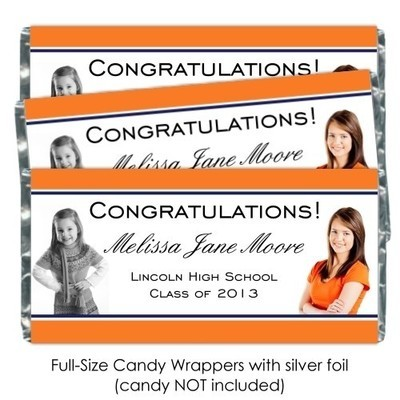 Photo Graduation Candy Wrappers