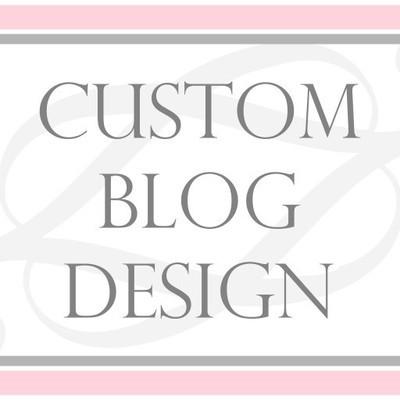 Custom WEBSITE or BLOG DESIGN