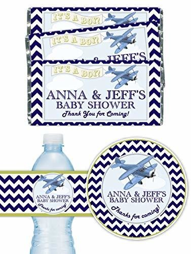 Custom Aviation Baby Shower Party Pack