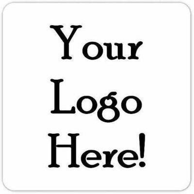 100 Custom MATTE Logo Labels - 2 inch square