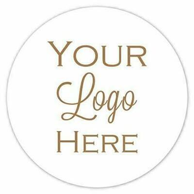100 Custom MATTE Logo Labels - 2 sizes available